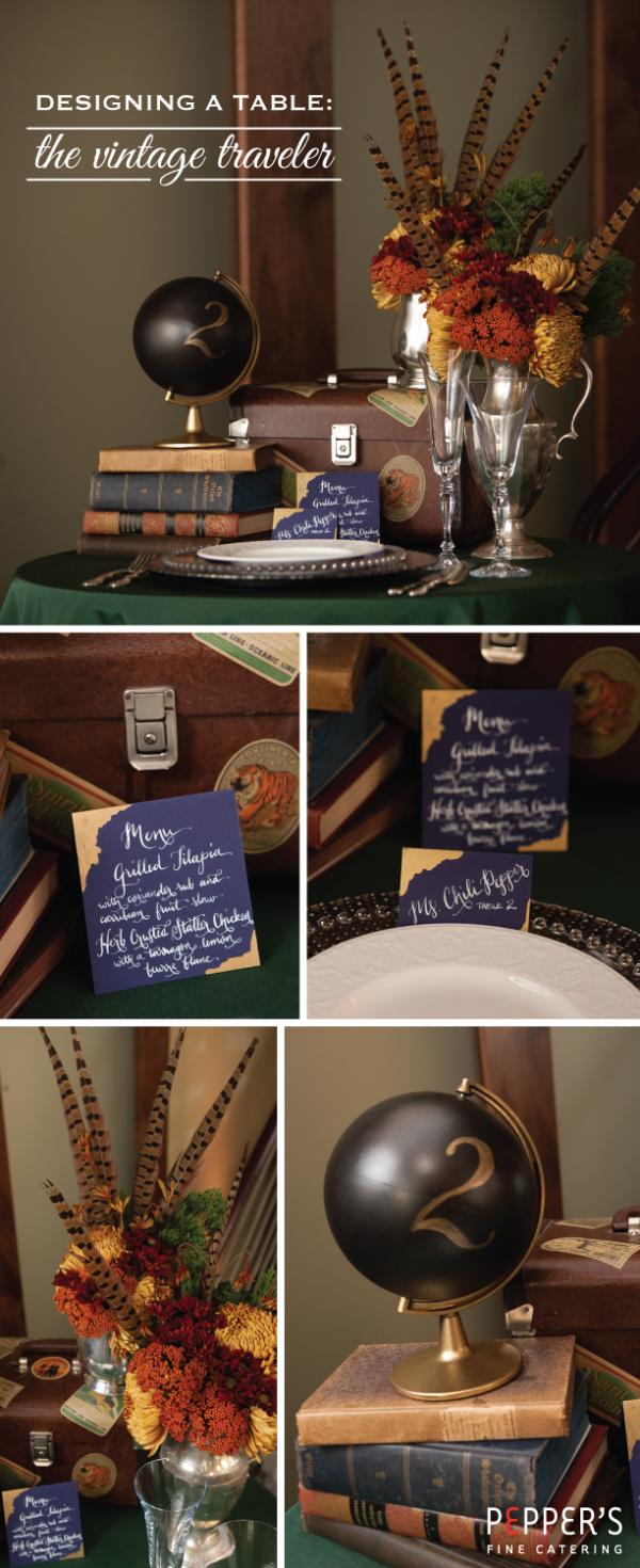 Wedding Table Design: Traveler