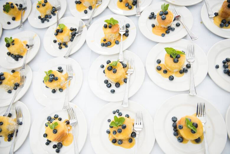 farm to table catering peppers desserts