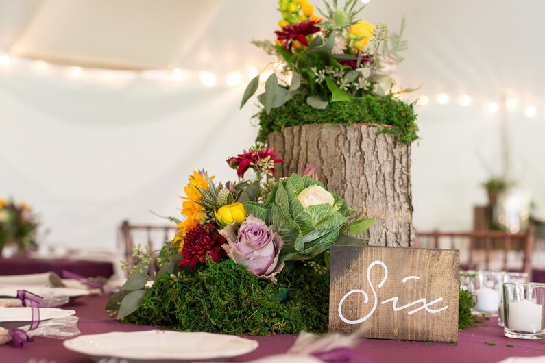 rustic wedding five bridge inn