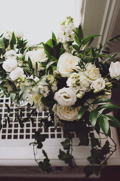 Aldworth Manor Wedding White and Green Floral Bouquet