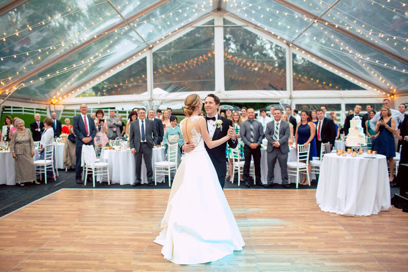 home wedding tent massachusetts