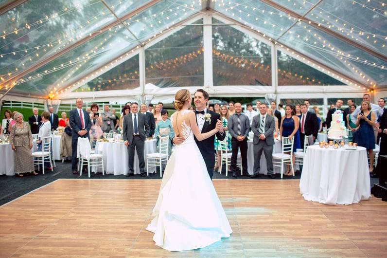 home wedding tent massachusetts