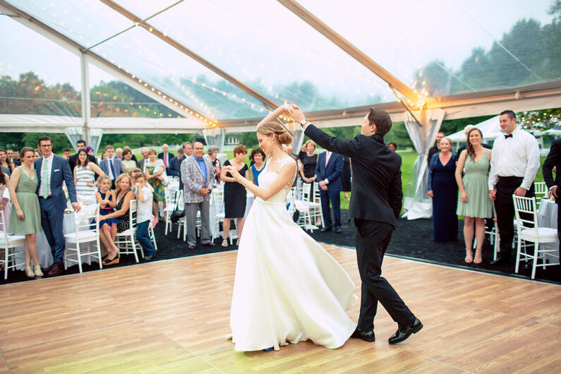 backyard tent wedding elegant