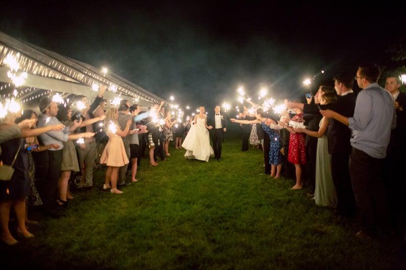sparkler send off wedding