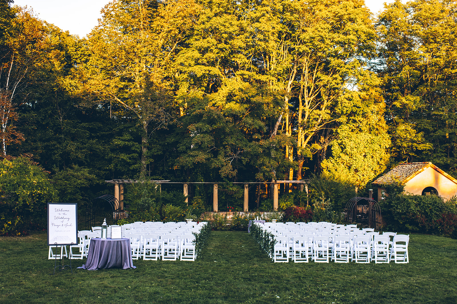 Aldworth Manor Outdoor Wedding Ceremony New Hampshire