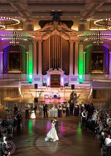 weddings mechanics hall