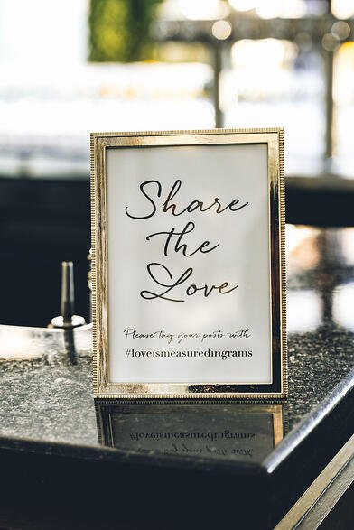 Share the Love Wedding hashtag Sign