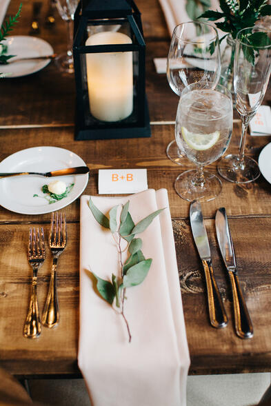 farmhouse tables wedding