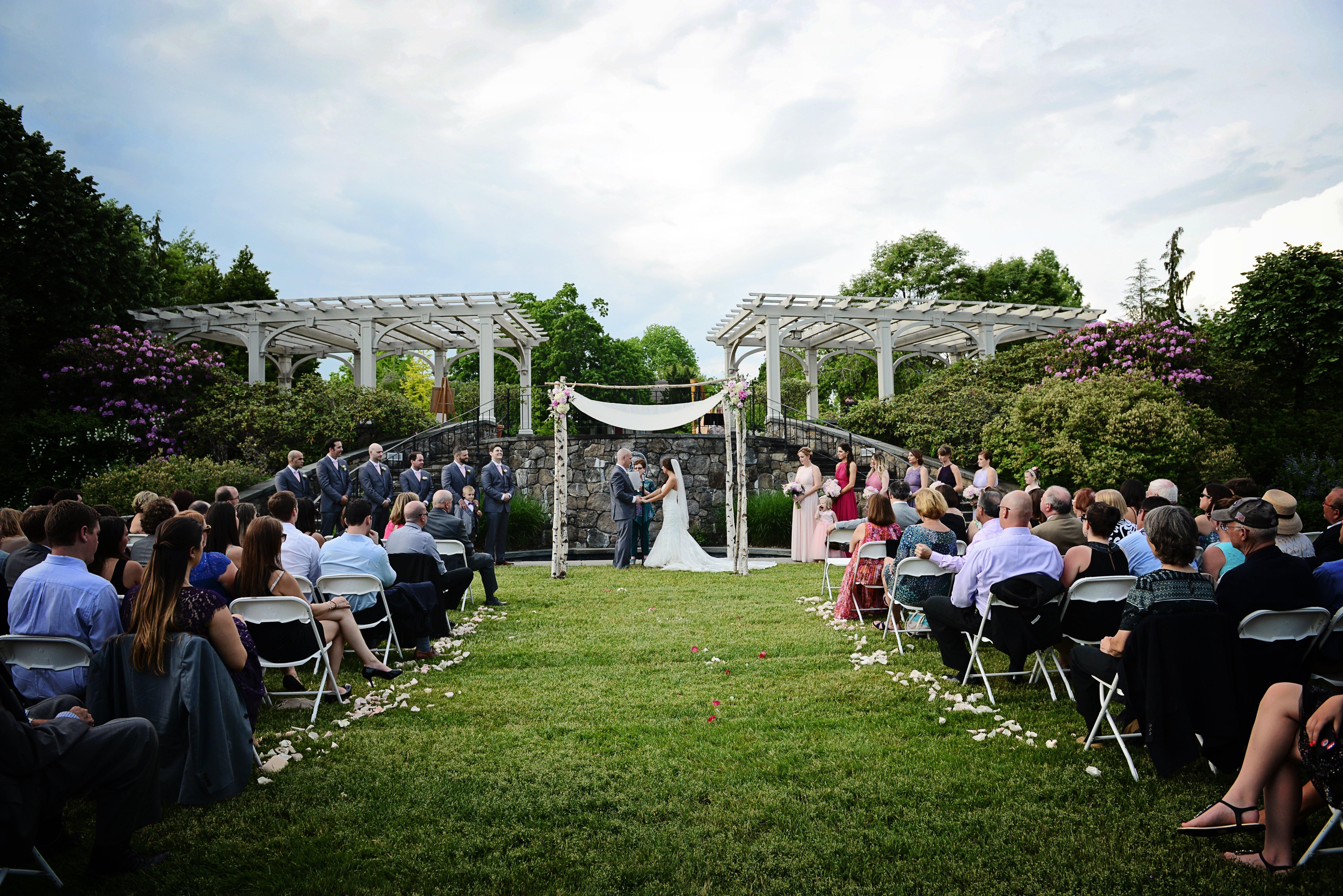 wedding ceremony tower hill botanic garden