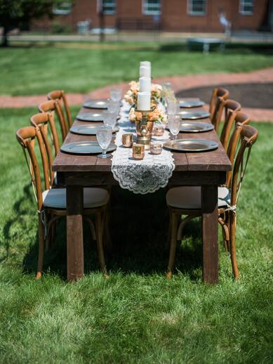 wedding farmhouse tables