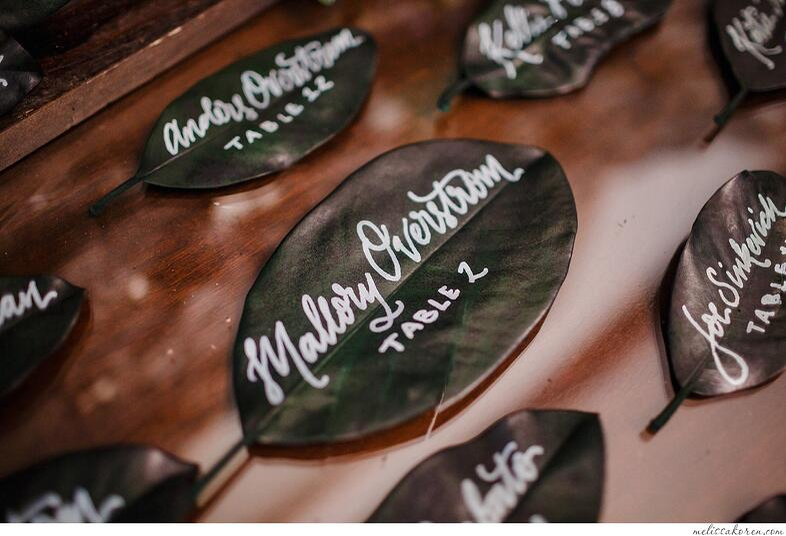 Magnolialeaf-placecards-wedding