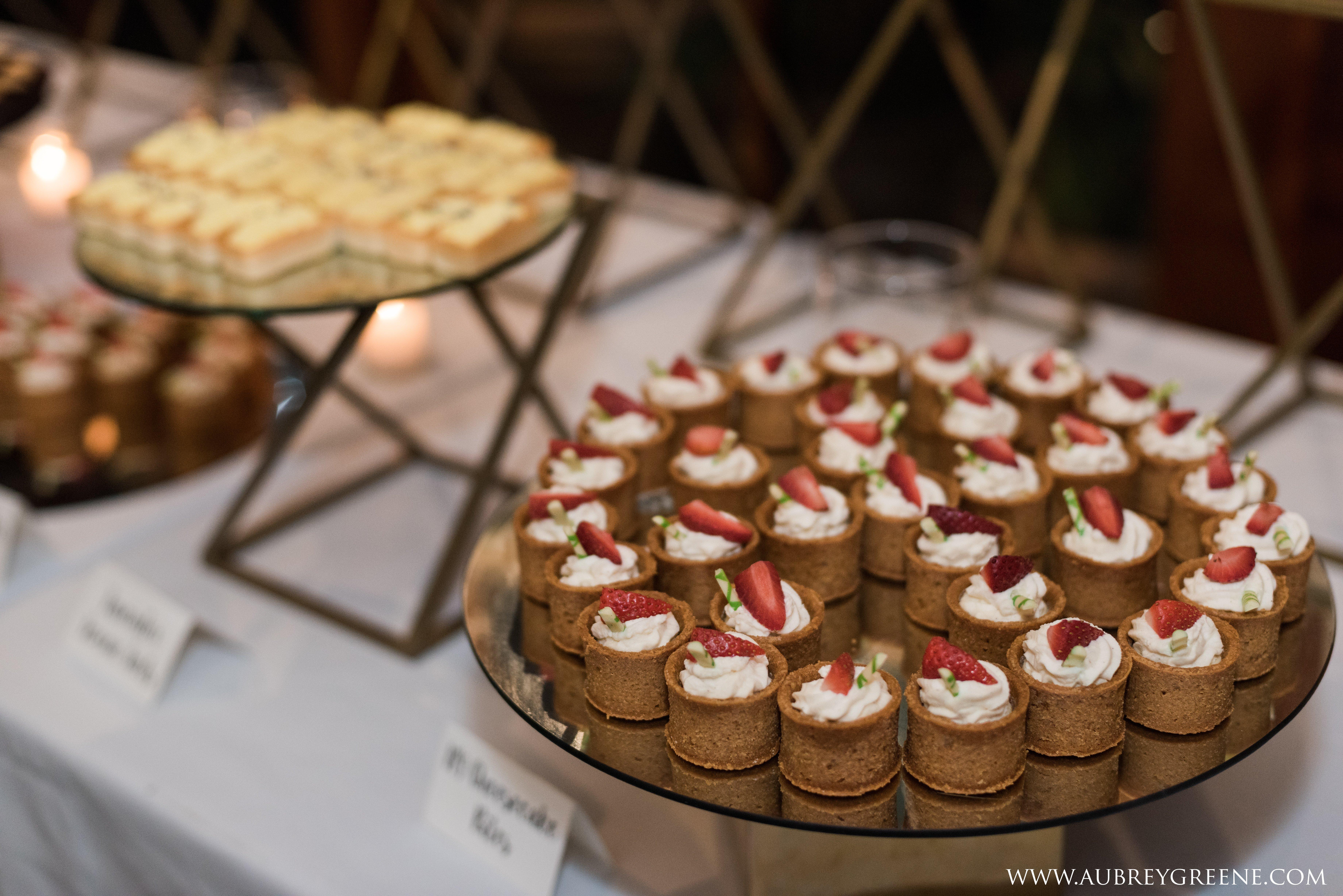 wedding catering desserts