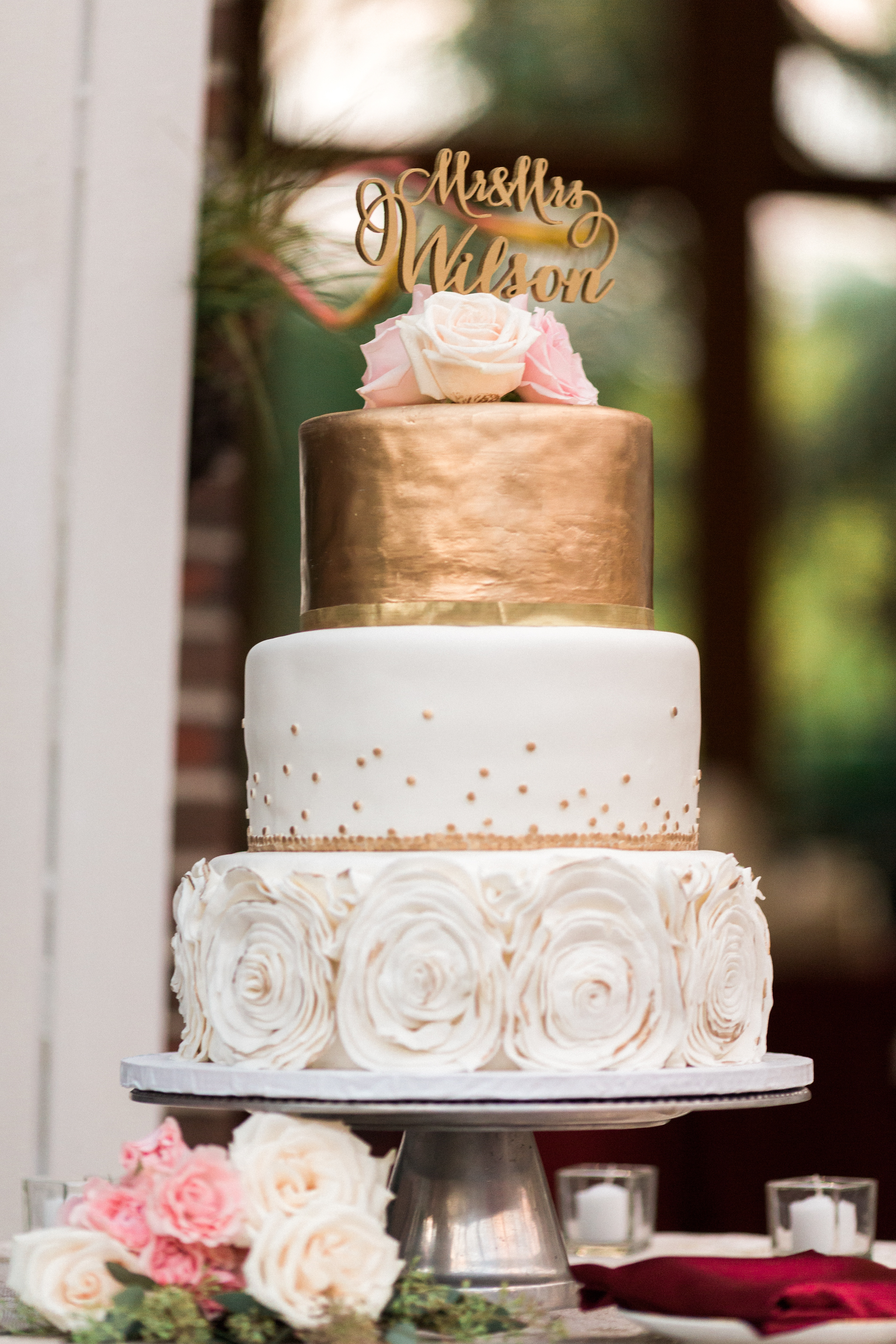 tower hill botanic garden wedding cake