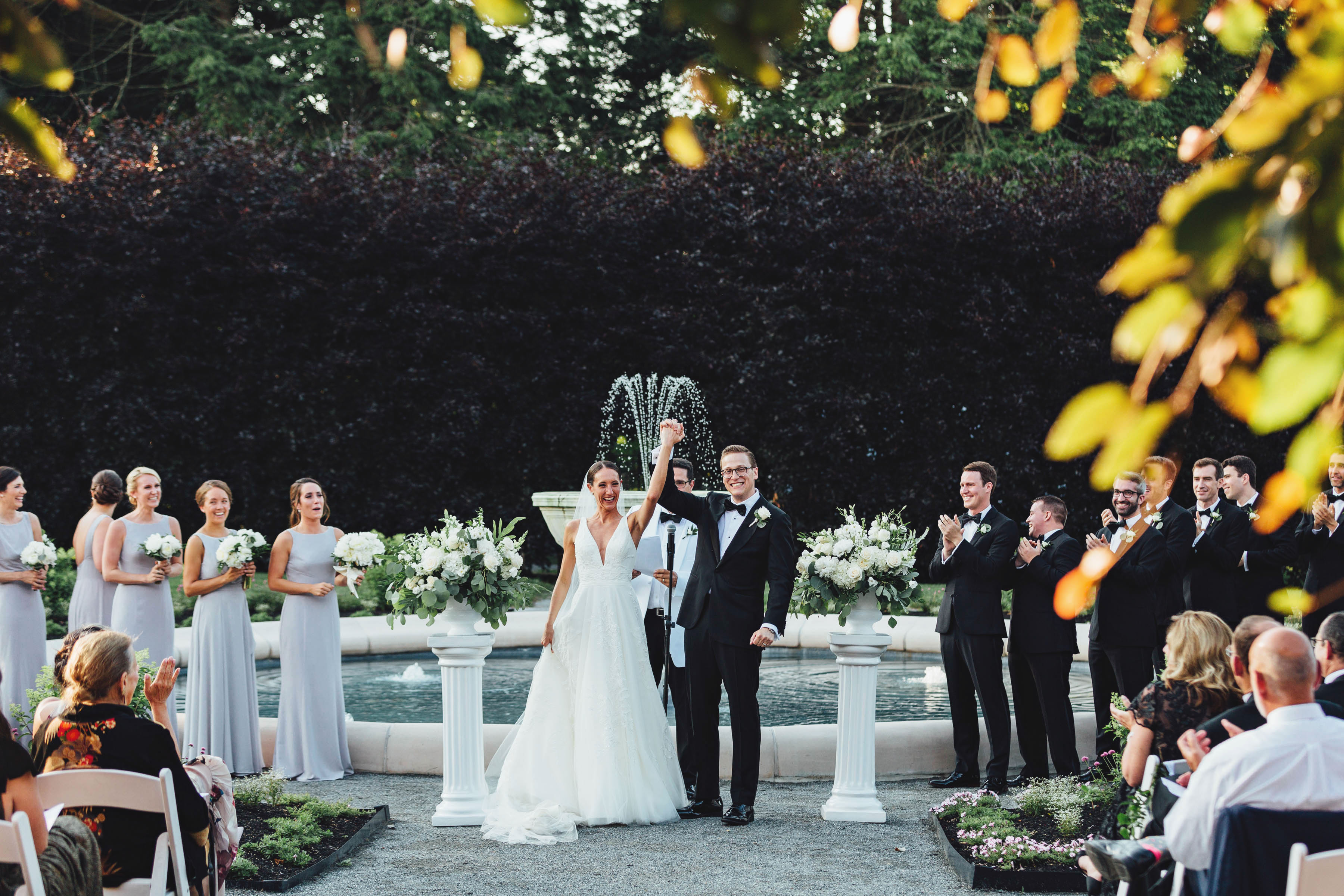 The gardens at Elm Bank Wedding and events