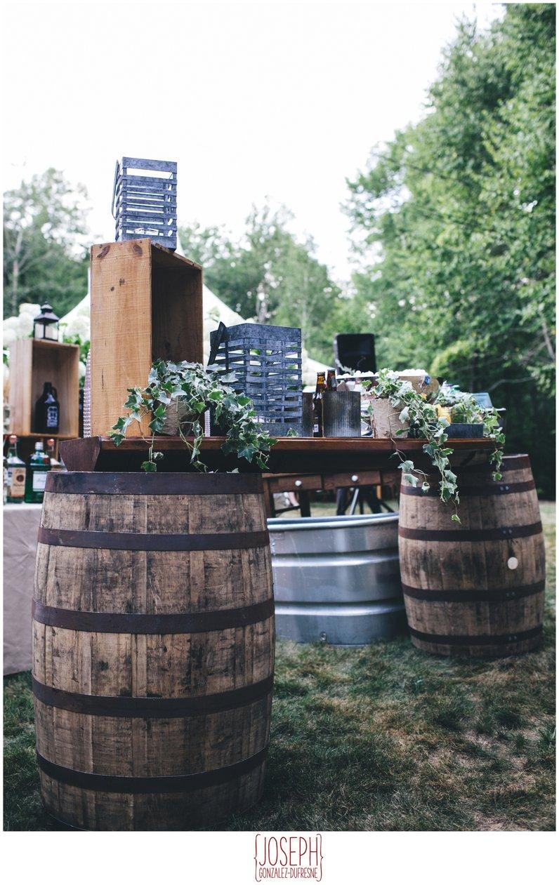 wine barrel bar wedding