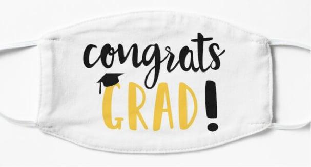 covid-19 face mask congrats grad