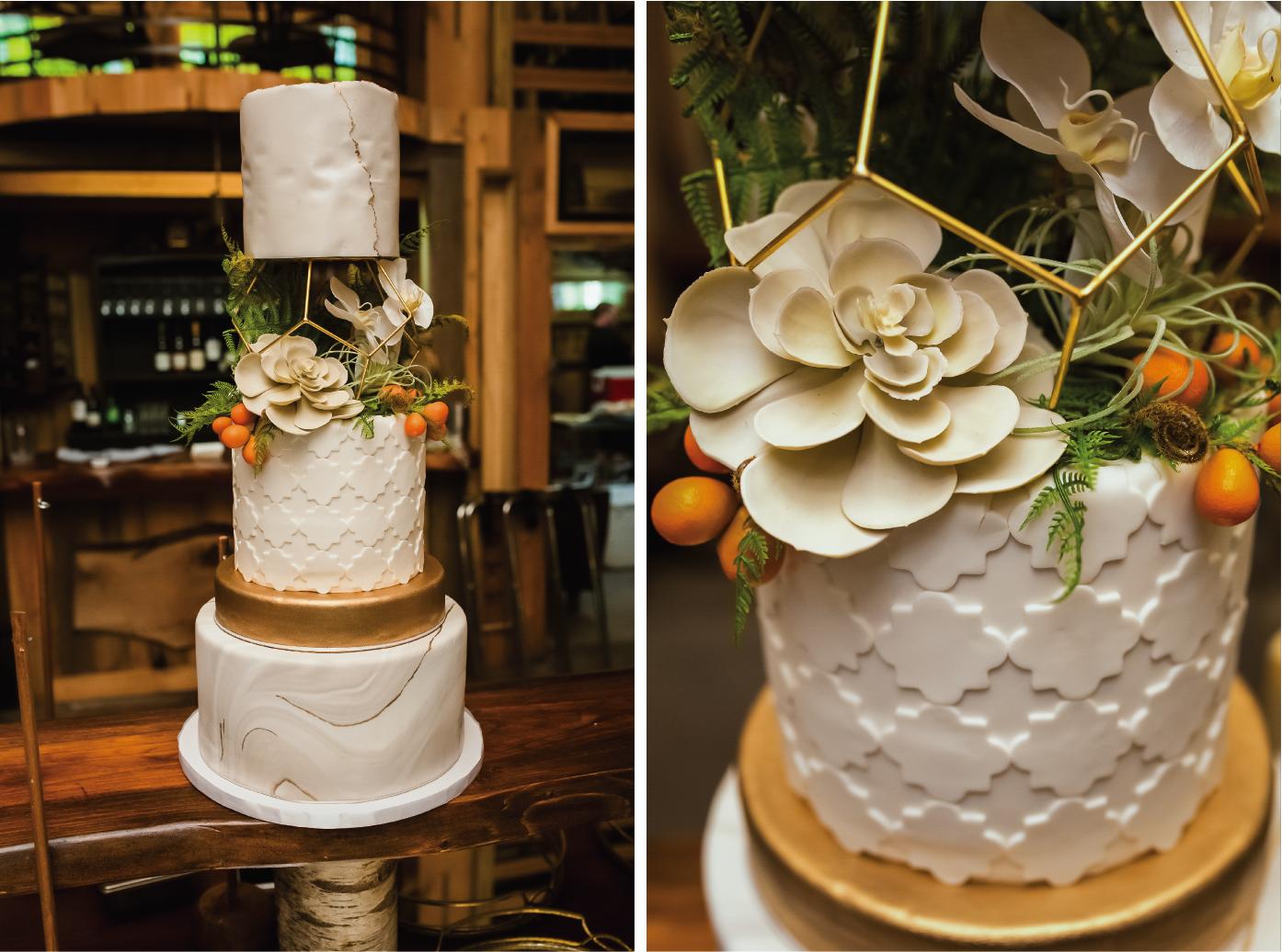 "Au Bon Cake Silver Chuppah Jewish Wedding Cake Topper 6/"""