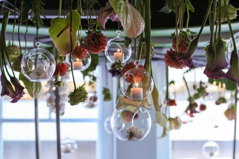 Suspended floral designs