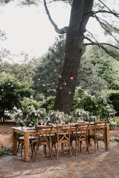 the gardens at uncanoonuc Mountain wedding
