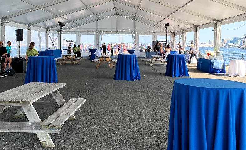 Courageous Sailing Center Pier 4 Corporate Event Tent Boston
